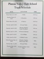 High School Track Schedule